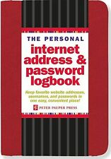 The Personal Internet Address & Password Logbook (Red) NEW BOOK