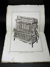 RUBANS 10 Planches originales COMPLET Encyclopédie Méthodique ARTS TEXTILES 1785