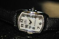 Invicta Women's Rare 20524 Lupah White MOP Dial Black Genuine Leather Watch