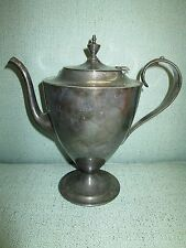 Vintage Forbes Silver Plate Mid Century Modern Teapot Tea Pot 8 1/2 Tall SP Only
