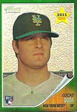 2011 Topps Heritage Lucas Duda New York Mets 2011 Rookie Refractor C78