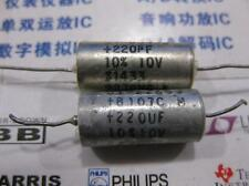 1x 220uF 10V DC 10% SPRAGUE Solid-Electrolyte Capacitors Axial-Lead