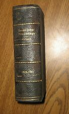 Vintage Proceedings of the Grand Lodge of Kansas,1910-1912,Freemasonry, Masonic