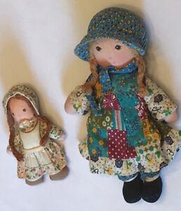 Vintage 70's Knickerbocker Oringinal Holly Hobbie & Heather Plush Dolls