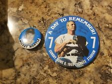 Lot of (2) Mickey Mantle Pins - 1969 A Day To Remember