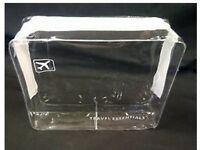 HOLIDAY TRAVEL TOILETRIES BAG - Clear Plastic Airline Airport Toiletry Bag