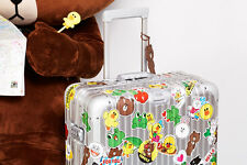 LINE Friends STICKERS Set 3 Naver App Character Decor DIY Accessary Luggage Note