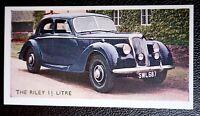 RILEY  1.5 Litre   Vintage 1950's Coloured Card   VGC