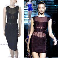 DOLCE & GABBANA vintage SS 2007 black bondage corset DRESS size UK 8 USA 4 40 dg
