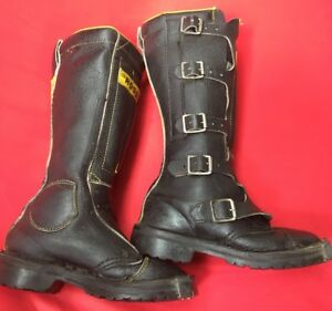 VINTAGE ROSSI MOTORCYCLE MOTOCROSS HIGH BUCKLE BOOTS, CAFE RACER, WOMEN'S Sz5 US