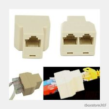 Ethernet Cable Splitter RJ45 CAT 5 6 LAN Port 1 to 2 Socket Connector Adapter PC