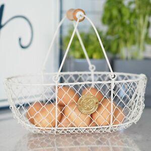 Metal Harvest Buttermilk Basket Ivory Sophie Conran Hamptons Coastal Home Decor