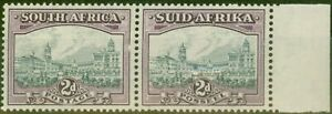 South Africa 1941 2d Grey & Dull Purple SG58a Fine Very Lightly Mtd Mint