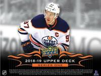 2018-19 Upper Deck Series One Jersey Cards Pick From List All Versions Included