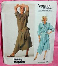 Uncut VTG Vogue Issey Miyake Sz 12 Top & Pleated Drape Wrap Skirt Pattern 1384