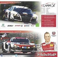 2014 IMSA TUDOR VIR Virginia Christopher HAASE Hero Card  AUDI R8 SIGNED