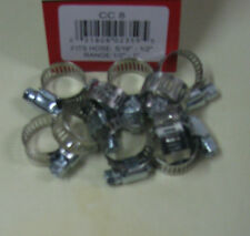 "STAINLESS STEEL BAND HOSE CLAMP 1/2""-1"" AMGAUGE #8 CLAMPS 10 PIECES"