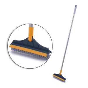 Rotating Bathroom Kitchen Floor Crevice Cleaning Brush Long Handle for Windows