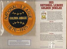 """1925 MLB BASEBALL NL 50TH ANNIVERSARY OFFICIAL JERSEY 5 3/4"""" PATCH WILLABEE WARD"""