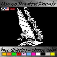 Windsurf Ocean Devotion Vinyl Decal / Sticker V3- Surf Sail Car Window Salt Life