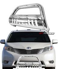 For 2011-2018 Toyota Sienna Chrome Bull Bar Brush Push Bumper Grill Grille Guard