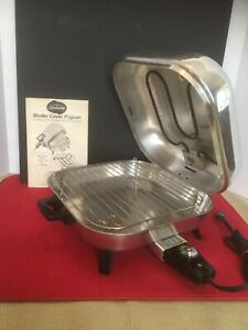 Vintage Sunbeam Broiler Cover Electric Skillet Fry Pan