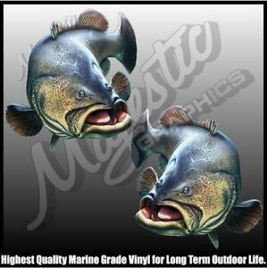 MURRAY COD - Mirrored Pair - 240mm X 220mm - BOAT DECALS