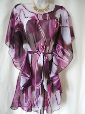 PURPLE & PINK BEACH COVER-UP TOP SIZE 12 - NEW