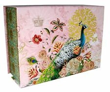 Punch Studio Rectangle Flip Top Nesting Box Peacock Post 68651 Medium
