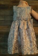 6 Rare Girls Dress Wedding Silver Flower Girl Pageant Daughter Dance Occasion