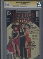 Justice League International #16 CGC 9.0 3x SS Kevin Maguire & Giffen &DeMatteis