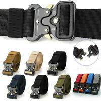 Men Military Belt Buckle Adjustable Combat Waistband Rigger Tactical Rescue S2E4