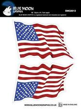 bLUE MOON GRAPHIX  STICKER MOTORCYCLE CAR HELMET BOARD IPAD PC  USA FLAG BMG0013