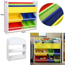 Toy Book Storage Rack Children Kids Bookcase Bookshelf Tidy Bedroom Playroom New