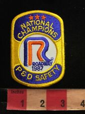 Vtg 1987 ROADWAY EXPRESS NATIONAL CHAMPIONS P & D SAFETY Trucking Patch 87WA
