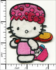 'Hello Kitty' with Shower  Hat Iron On Applique