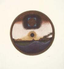 BEERI TUVIA, Circle, Original S&N ETCHING Israeli Art Prints 1970's, from dealer