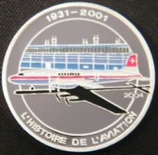 2004 Congo Large Silver Color Proof 1000 fr Airplane-DC-7