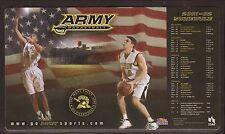 Army Black Knights--2001-02 Basketball Magnet Schedule--USAA