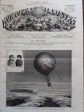 L'UNIVERS ILLUSTRE 1874 N 994 ASCENSION SCIENTIFIQUE DE :CROCE SPINELLI et SIVEL
