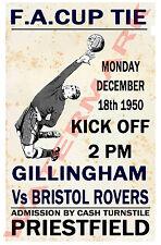Gillingham - Vintage Football Poster POSTCARDS - Choose from list