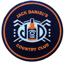 Round Jack Daniels Black Country club Whiskey Hat Ballcap patch