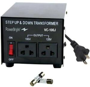 300W Step Up & Down Transformer Convert 120 to 100 v Universal Outlet Socket NEW