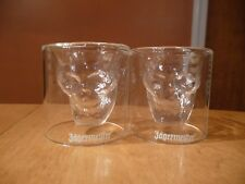 Jagermeister Jägermeister Skull Shot Glasses - Set of Two, REAL GLASS NEW IN BOX