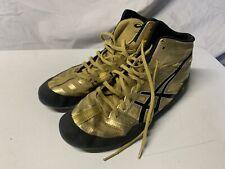 ASICS Mens JB Elite Wresting Boxing Shoe Olympic Gold Metallic Black Sz 9 J3A1Y