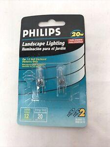 Philips 20W 12V Clear G4 Base T3 Halogen Landscape & Cabinet Light Bulb (2-Pack)