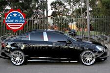 2011-2015 Volvo S60 S-60 6Pc Chrome Pillar Post Stainless Steel Trim Door Cover
