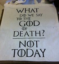 GAME OF THRONES Canvas Tote Shopping Bag House Stark Dio della morte non oggi