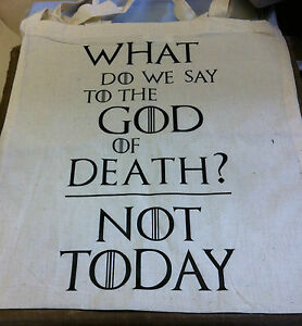 Game of Thrones Canvas Tote Shopping Bag House Stark God of Death Not Today/Gift