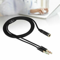 3.5mm Stereo Audio 1 Female to 2 Male Headphone Mic Y Splitter Cable Adapter Hot